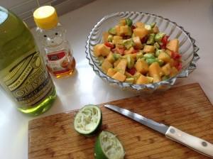 cantaloupe salad-