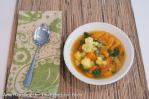 Spicy North-African Vegetable Soup with Chickpeas Recipe