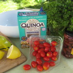 Fresh Summer Tomato Quinoa Salad with Lemon Vinaigrette
