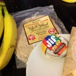 peanut butter banana and wraps