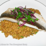 Spiced Lentils with Grilled Fish Recipe