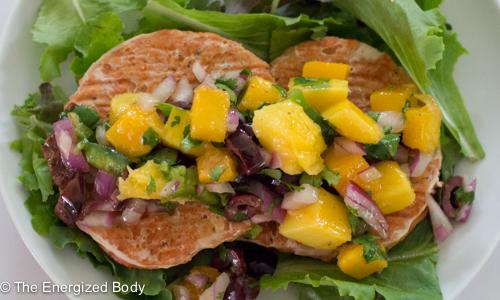 Salmon Burger with Mango Salsa recipe