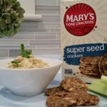 marys gone crackers with parsnip dip